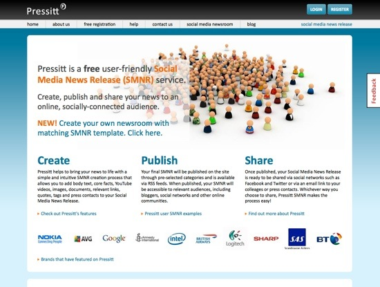 Pressitt website